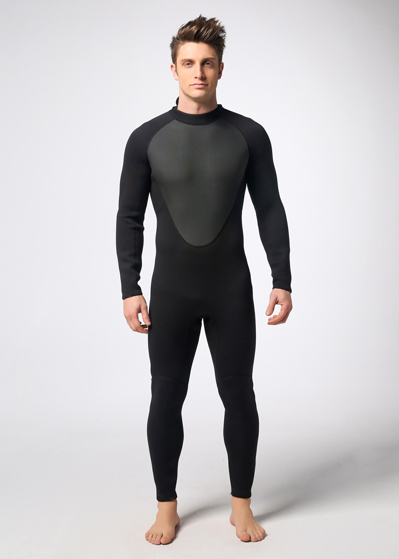 ФОТО Black 3mm Neoprene Scuba Dive Wetsuit For Men Spearfishing Wet Suit Surf Diving Equipment Long Sleeve Jumpsuit