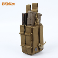 Tactical Military Tool Kit M4 Molle Double Layer Accessory Pouch Hunting Airsoftsports Paintball