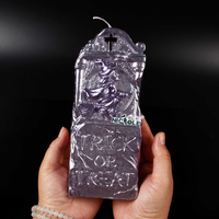 New Arrivals Nicole Halloween Witch Trick Or Treat Handmade Silicone Rubber Soap Candle Molds Resin,Clay Craft Mold Salt Carving