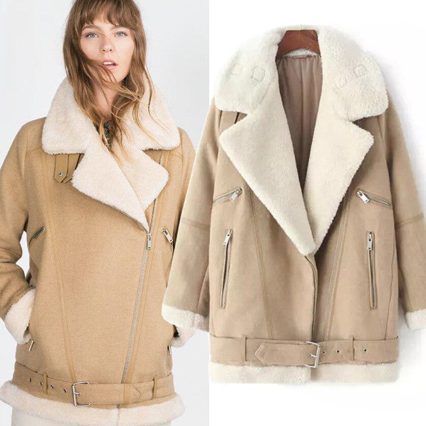 2019 nouvelle veste d'hiver femmes En Peau de Mouton chaud épais Agneaux Laine doublure manteau