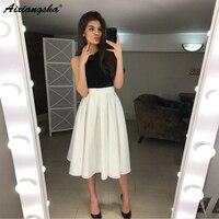 Chic A Line Halter Sleeveless Backless Short Prom Dress 8 Grade Graduation Dresses Ivory Homecoming Dresses
