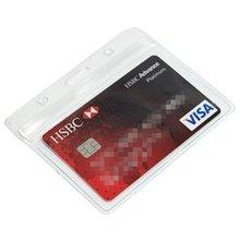 XRHYY пластиковый 5 шт держатель карточек для бизнеса-горизонтальный с отверстием для слота и цепи