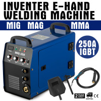 EU warehouse in stock MIG 250AI Inverter Welding Machine MIG MAG + E Hand IGBT 250Amp
