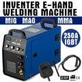Entrepôt de l'ue en stock MIG-250AI poste à souder onduleur MIG MAG + e-hand IGBT 250Amp