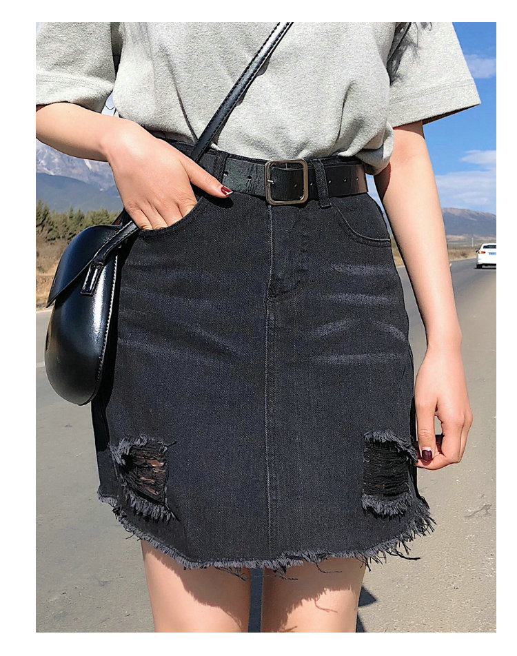 BOBOKATEER Plus Size Denim Skirt Women Skirts Womens Summer Sexy Mini High Waist Black Jean Skirt Female Jupe Falda Fashion 19 7