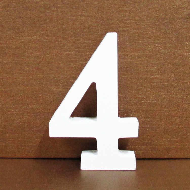 Каждый вечерние белые 0-9 настроение номера деревянные буквы украшения дома День рождения Свадебные украшения детский душ узнать детские игрушки