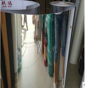 98 cm de large décor à la maison haute définition similaire miroir autocollants réfléchissants PVC wallsticker Boeing film chambre meubles papier peint