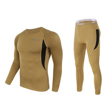 High quality 2019 Winter Fleece thermal Tactical high Stretch functional underwear tactical military Skinny Long Johns suits