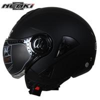 NENKI Electric Motorcycle Helmet Vintage Style Cruiser Touring Chopper Street Bike Scooter Helmet With Clear Lens