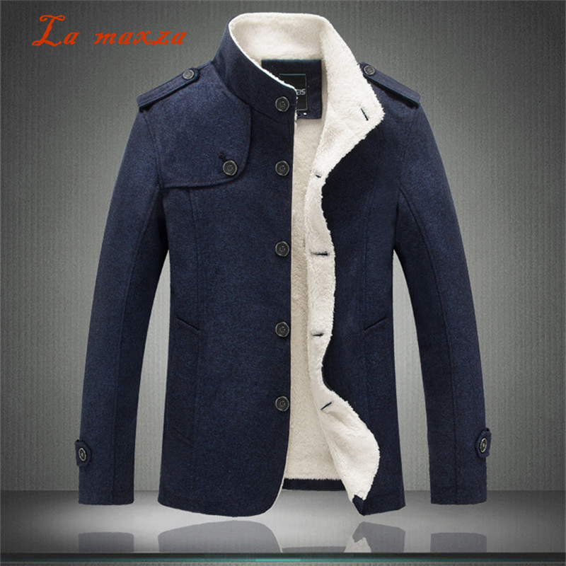 Mens Coats Dress Plus-Size Casual Fashion Winter Warm Smart New-Arrivals