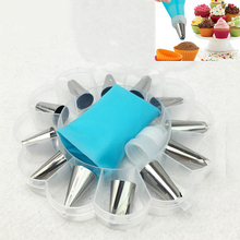 14Pcs Icing Piping Cream Pastry Bag Nozzle Set DIY Cake Decorating Stainless Steel With Collecting Storage