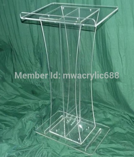 Free Shipping Beautiful Simple Elegant Acrylic Podium Pulpit Lectern Decoration