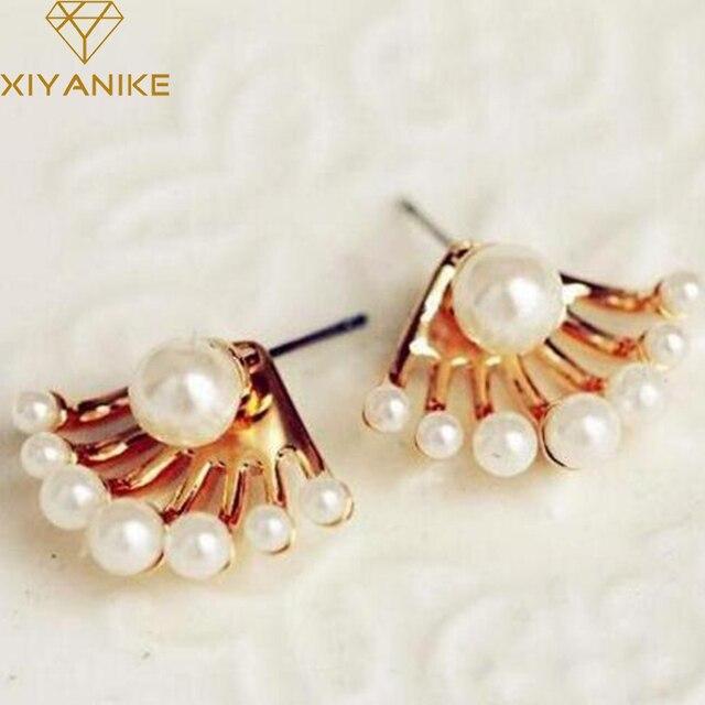 Mode européenne et américaine bijoux exquise petite Imitation sauvage perle boucles d'oreilles mignon tour de cou livraison gratuite XY-E206