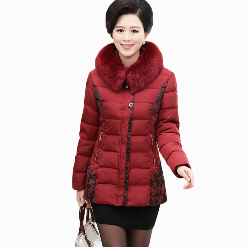 2017 NEW HOT SALE WOMEN WINTER JACKER THICKEN LARGR FUR COLLAR HOODED WARM SLIM FEMALE PARKAS COTTON WADDED COAT ZL696