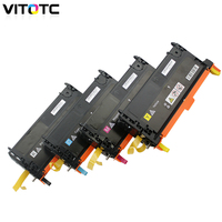 Vitotc Toner Cartridge Compatible For Dell 3115 3130 3130cn Color Toner Cartridges With New Chips Laser Printer 9K/8K Page Parts