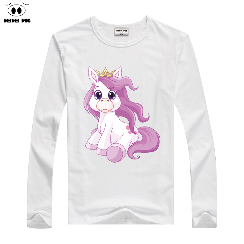 DMDM PIG Children's T-Shirts For Baby Girls Tops Tees Toddler Boys Clothing Long Sleeve T Shirt Kids Clothes 6 7 8 Years TShirts стоимость