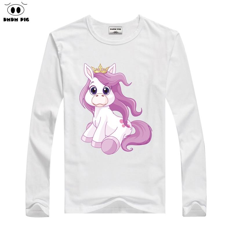 DMDM PIG Gyermek T-Shirts Baby Girls Tops Tees Totyogó fiúk Ruházat Hosszú ujjú póló Gyerekruházat 2 3 4 éves pólók