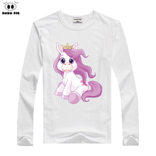 DMDM PIG t-shirt baby boy girl clothes children's t-shirts for girls boys long sleeve T shirt for girls tops kids clothes boys