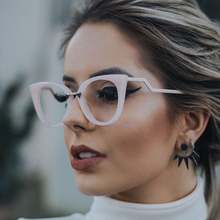 Pop Age New Brand Designer Celebrity Cat Eye Sunglasses Women Clear lens Glasses Vintage Ladies Fashion Sunglasses Eyewear Gafas