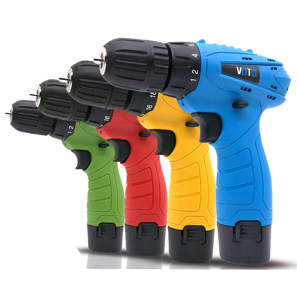 Rechargeable Hand Drill Multi-function Household Lithium Drill Gun Type Miniature Electric Screwdriver  Power Tools Screwdriver
