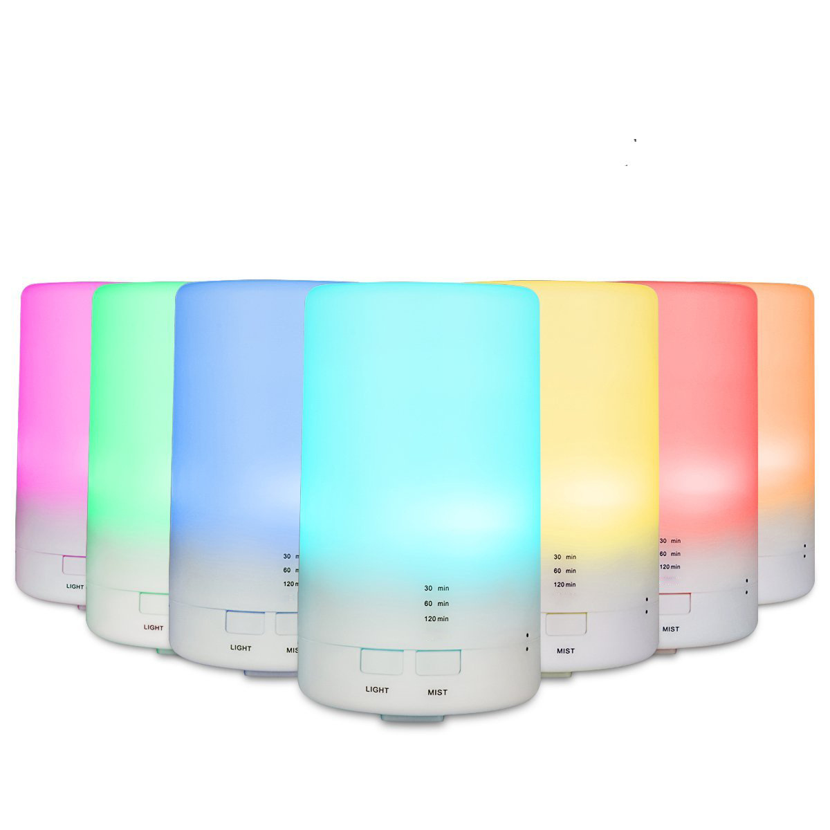 7 Color Changing LED Light Essential Oil Diffuser 100ML Mini Ultrasonic Cool Mist Air Humidifier for Car Aroma Mist Maker crdc air humidifier ultrasonic 100ml aroma diffuser glass essential oil diffuser mist maker with 7 colors changing led light