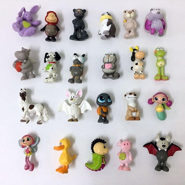 10 piezas grandes de dibujos animados de plástico lindo Mini Animal modelo cada tipo de animales muñecas diseño encantador oso ovejas niños juguete ASB48