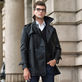 New Man Long  Business Casual coat coat Winter  Men's Soft PU Leather Coat mens overcoat men's coats male clothing