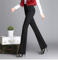 2017 autumn and winter fashion Casual plus size high waist Stretch Micro speaker female women clothes trousers pants
