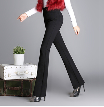 2020 autumn and winter fashion Casual plus size high waist Stretch brand female women ladies girls clothes flare trousers pants