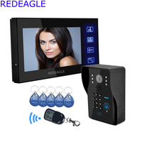 Touch Key 7 Lcd Video Door Phone Intercom System With IR Camera Code Keypad RFID Key