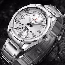 NAVIFORCE Brand Men Watches Luxury sport Quartz waterproof watch men's stainless steel auto date wristwatches relogio masculino