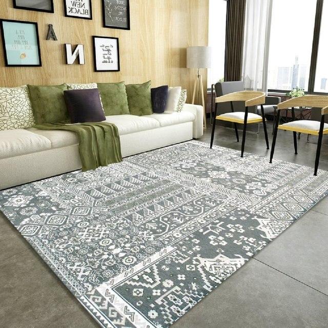 WINLIFE Moderne Wohnzimmer Teppich Vintage Teppich für Schlafzimmer ...