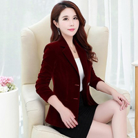 Women's gold velvet suit spring and autumn loaded new suit casual Korean Slim solid color small suit jacket TTYC04
