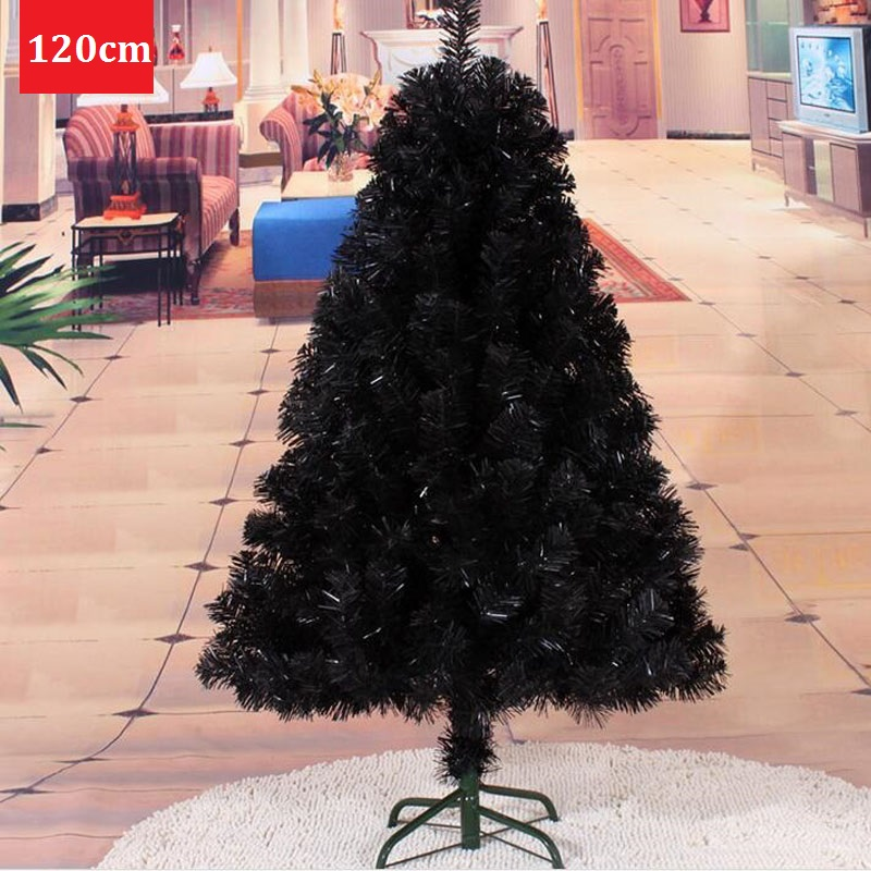 12 m120cm small black encryption christmas tree navidad home mall adornos decoration party supplies - Small Black Christmas Tree