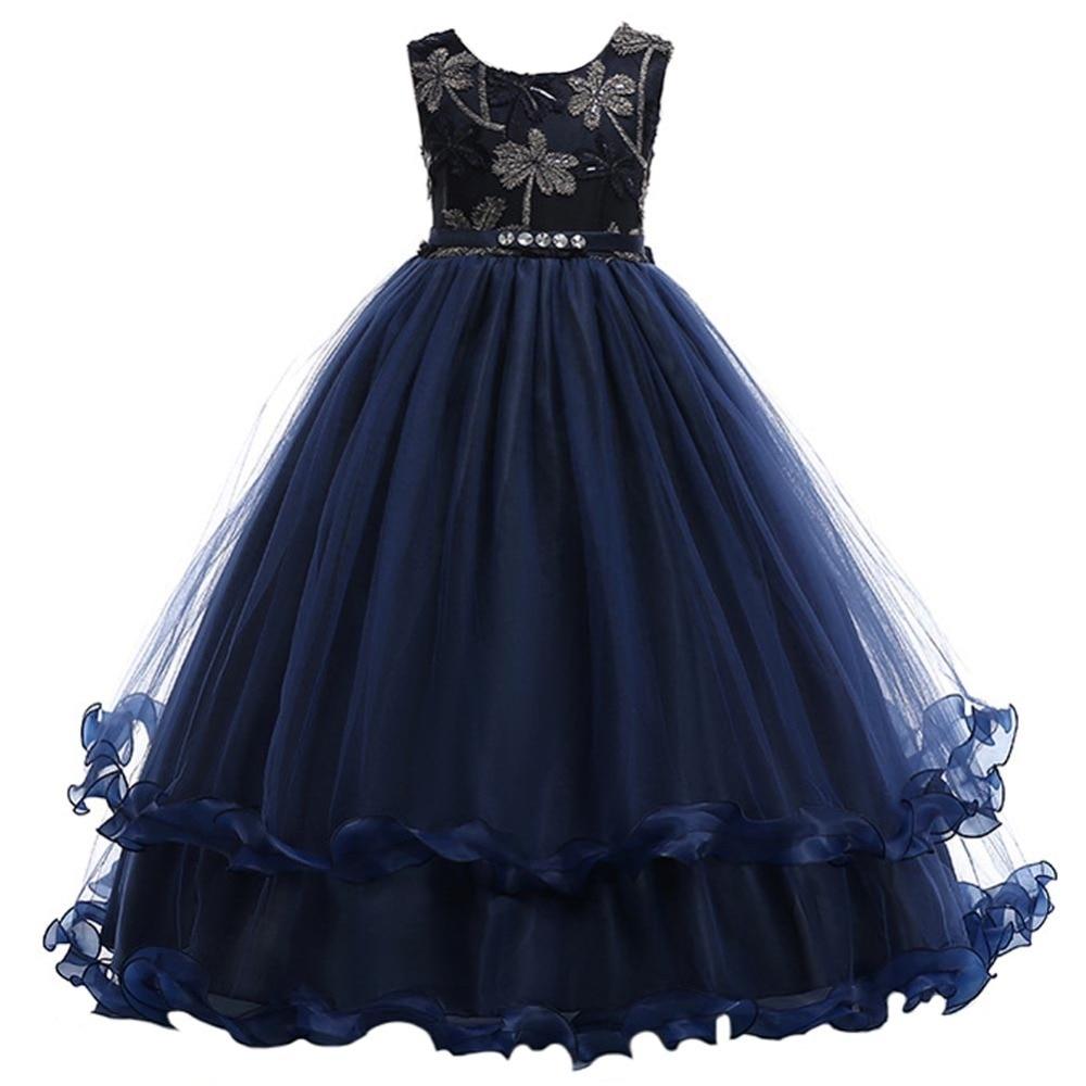 5ef6bada2 DZYECI Eleghant Wedding Dress For Teen Girl Ceremony Kid Embroidery ...
