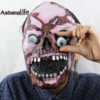 Ślepoty Zombie Czaszka Halloween Boże Narodzenie Pokaż Rekwizyty Miękkie Zapach Bug Duch Twarzy Maskę
