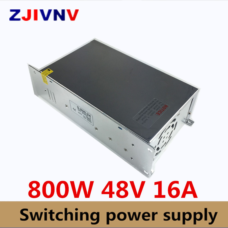 ac-dc 48v Power Supply 800W 16A AC DC Converter input 220v or 110V LED Driver output DC36V Switching Power Supply For Led Light new model ac dc power supply 12v 66a 800w ac dc converter 220v 110v led driver dc12v switching power supply for led light cctv