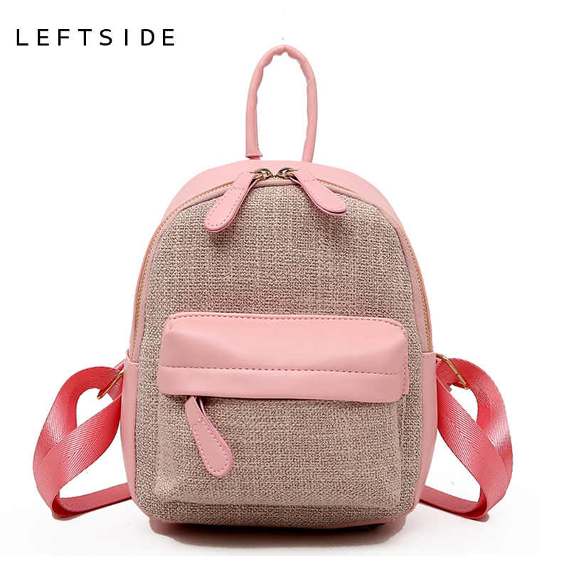 e79ee008d6 LEFTSIDE Small Female Bagpack Travel Bags For Women 2018 Mini Cute Backpack  Purese Kids Leather Backpacks