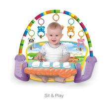 Популярный детский музыкальный коврик для игры в спортзал, коврик для ползания