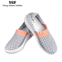 YGF New Breathable Women Summer Casual Shoes Platform Wedges Women Swing Shoes Height Increasing Fitness Slimming