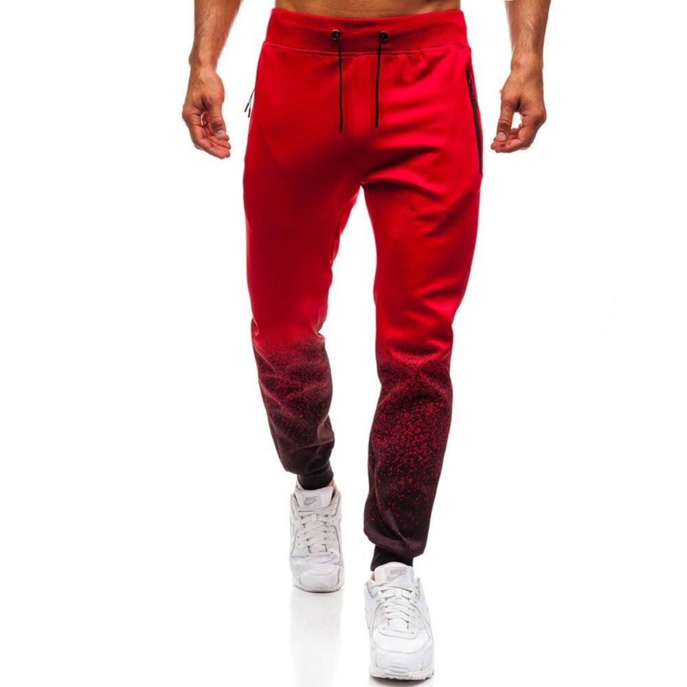 2018 Degli Uomini Completa Di Abbigliamento Sportivo Pantaloni Casual Degli Uomini Di Fitness Allenamento Tasca Dei Pantaloni Scarni Pantaloni Della Tuta Pantaloni Con Coulisse Lungo Pant