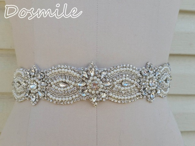 High quality wedding belt crystal bridal band with beads rhinestone blings sparkles haute couture satin sash