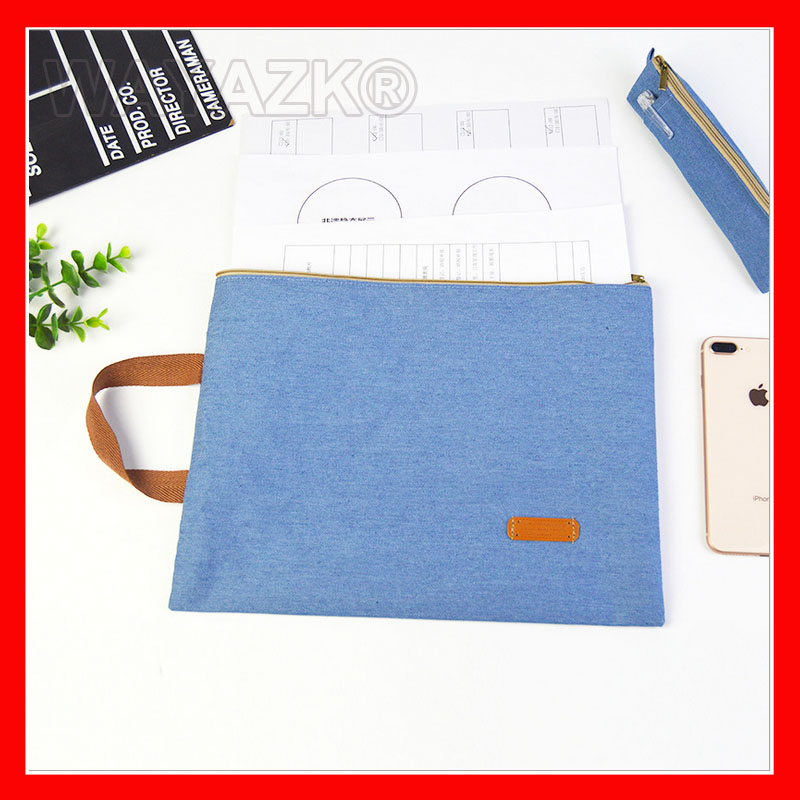 (100pcs/lot) Wholesale A4 File Bag Fabric