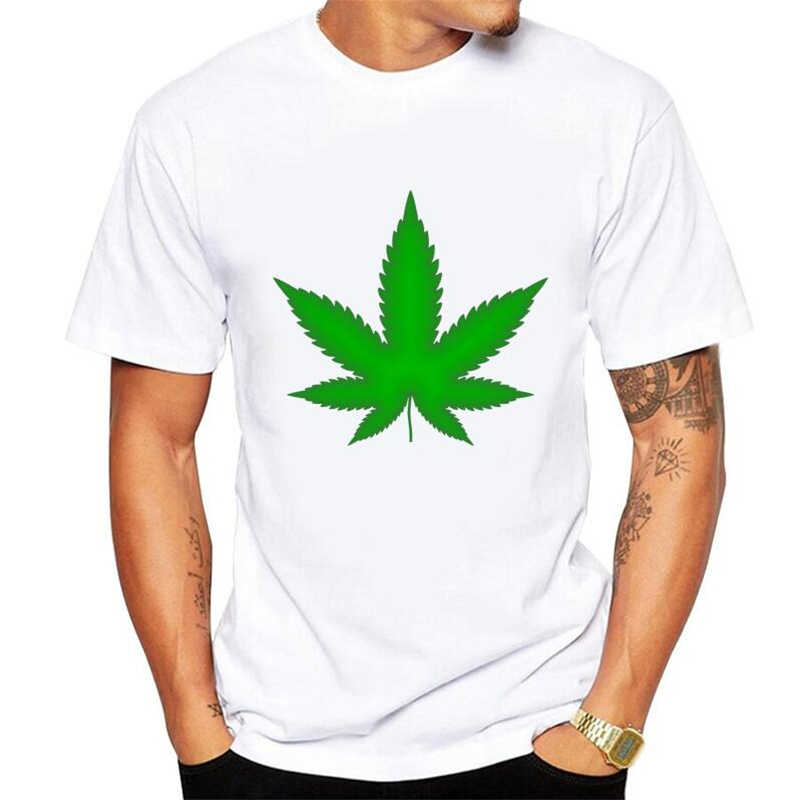 Funny T shirts Men Summer Fashion 7 leaf grass Printed Tshirt Casual Short Sleeve O-neck T-shirt Cotton Tops Tees plus size 5xl