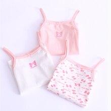 3 шт., коллекция года, Майки для девочек, Детский жилет пляжная одежда летняя одежда для маленьких девочек хлопковые топы без рукавов, XJD8569