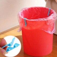 4 pcs Çöp Çanta Anti-Kayma çöp sepeti Klip Can Tespit Pratik Çöp çöp torbası Tutucu Kelepçe Ev Depolama Organizasyon