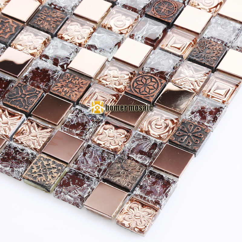 ice crack crystal glass mosaic tiles ehgm1069b for kitchen backsplash bathroom tiles shower fireplace dining room wall mosaic