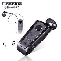 100% 오리지널 fineblue f910 무선 블루투스 v4.0 헤드셋 이어폰 진동 경고 착용 클립 스마트 폰용 핸즈프리 이어폰