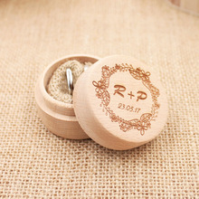 Personalized Rustic Ring Bearer Box  Custom Wedding Ring holder vintage Wedding Ring Bearer Pillow Box, Engraved Wooden Ring Box