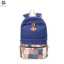 Новая мода холст рюкзак детей школьные сумки флаг США татуировки рюкзак удобные рюкзаки унисекс для подростков